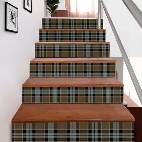 Scottishshop Tartan Stair Stickers - Graham of Menteith Weathered Stair Stickers A91