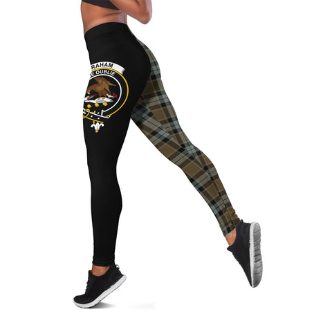 Graham of Menteith Weathered Crest Tartan Leggings | Over 500 Tartans | Special Custom Design