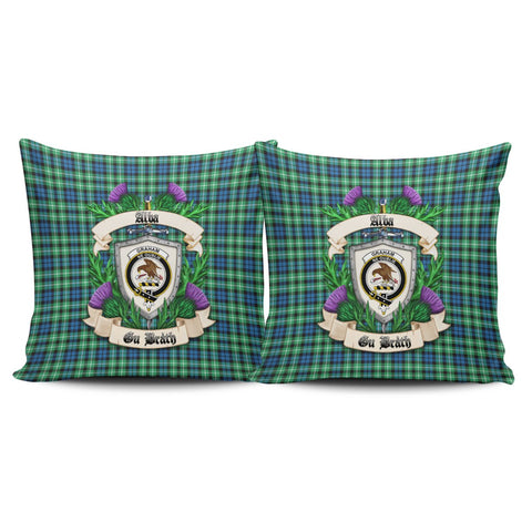 Graham of Montrose Ancient Crest Tartan Pillow Cover Thistle (Set of two) A91 | Home Set