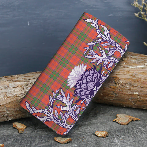 Grant Ancient Tartan Wallet Women's Leather Thistle A91