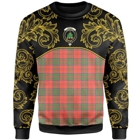 Grant Ancient Tartan Clan Crest Sweatshirt - Empire I - HJT4 - Scottish Clans Store - Tartan Clans Clothing - Scottish Tartan Shopping - Clans Crest - Shopping In scottishclans - Sweatshirt For You