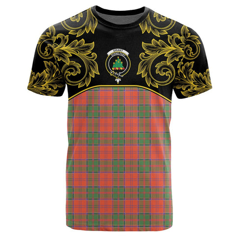 Grant Ancient Tartan Clan Crest T-Shirt - Empire I - HJT4 - Scottish Clans Store - Tartan Clans Clothing - Scottish Tartan Shopping - Clans Crest - Shopping In scottishclans - T-Shirt - Tee For You