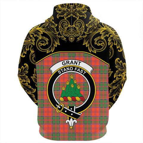 Grant Ancient Tartan Clan Crest Zip Hoodie - Empire I - HJT4