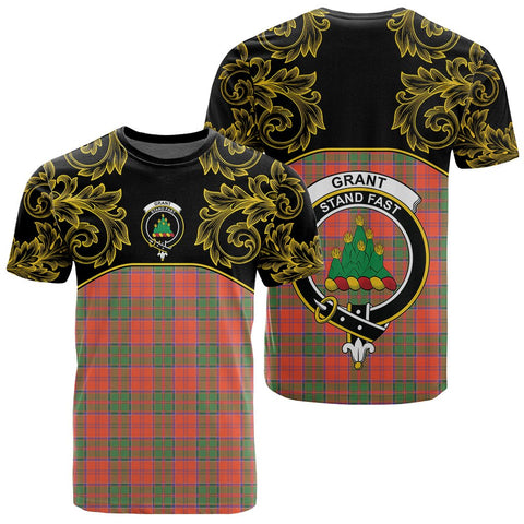Grant Ancient Tartan Clan Crest T-Shirt - Empire I - HJT4