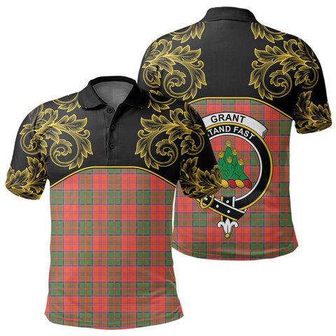 Grant Ancient Tartan Clan Crest Polo Shirt - Empire I - HJT4
