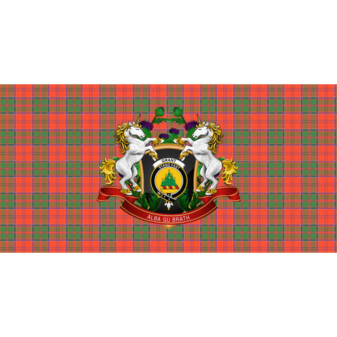 Image of Grant Ancient Crest Tartan Tablecloth Unicorn Thistle A30