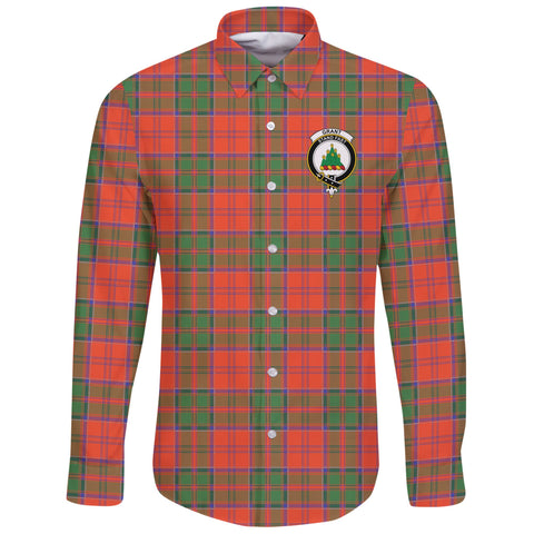 Grant Ancient Tartan Clan Long Sleeve Button Shirt | Scottish Clan