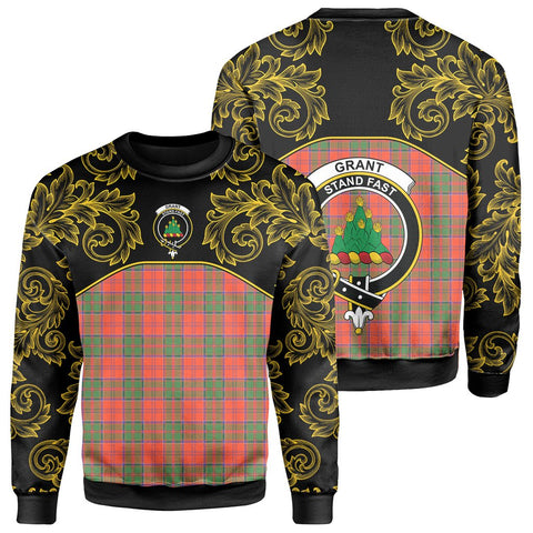 Grant Ancient Tartan Clan Crest Sweatshirt - Empire I - HJT4