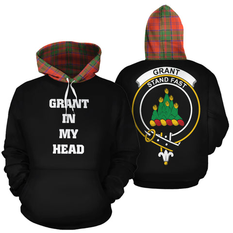 Grant Ancient In My Head Hoodie Tartan Scotland K9
