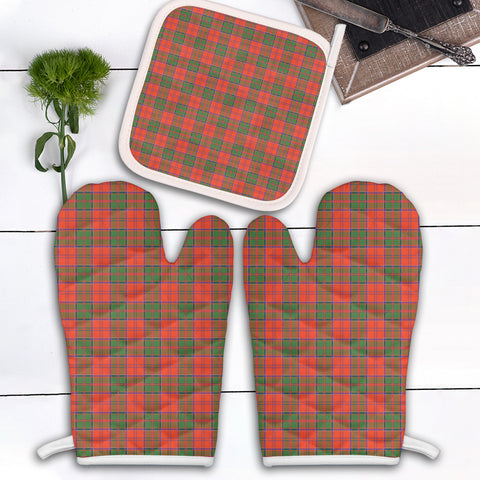 Image of Grant Ancient Clan Tartan Scotland Oven Mitt And Pot-Holder (Set Of Two)