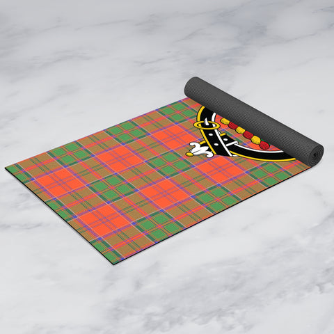 Grant Ancient Clan Crest Tartan Yoga mats