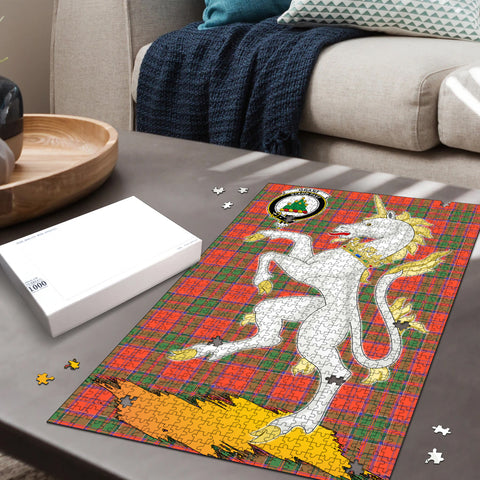 Image of Grant Ancient Clan Crest Tartan Unicorn Scotland Jigsaw Puzzle