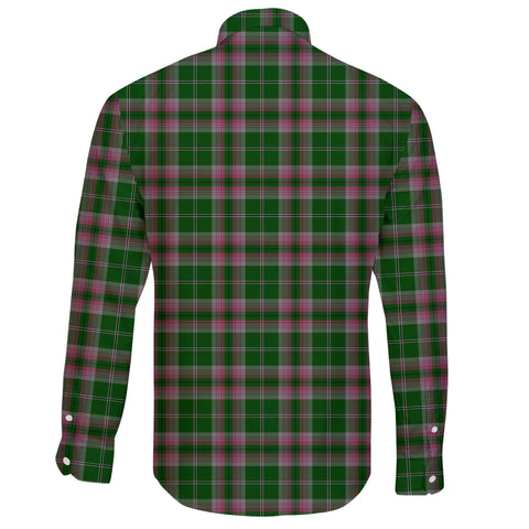 Image of Gray Tartan Clan Long Sleeve Button Shirt A91