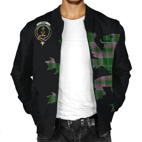 Gray Tartan Lion & Thistle Men Jacket | scottishclans.co
