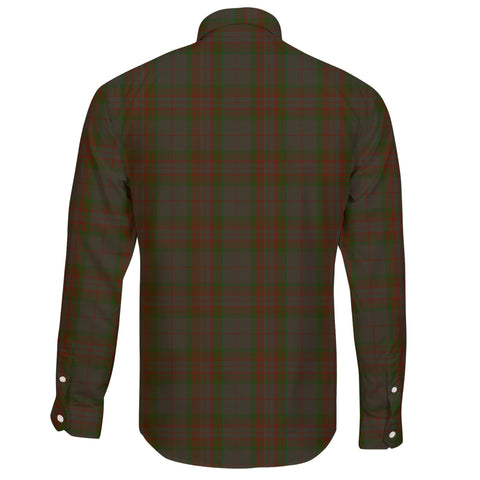 Gray Hunting Tartan Clan Long Sleeve Button Shirt A91