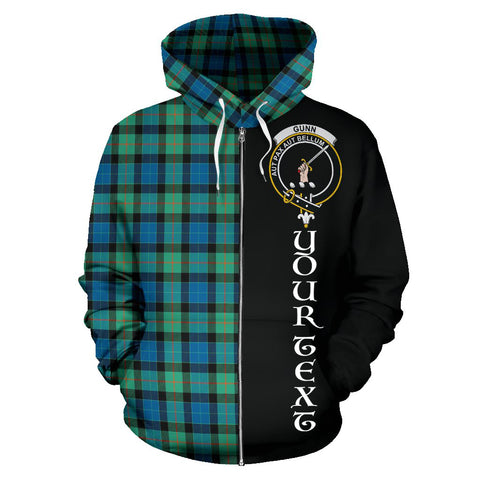Image of (Custom your text) Gunn Ancient Tartan Hoodie Half Of Me TH8