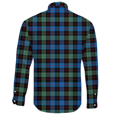 Guthrie Ancient Tartan Clan Long Sleeve Button Shirt A91