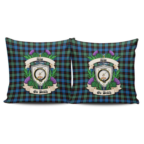 Guthrie Ancient Crest Tartan Pillow Cover Thistle (Set of two) A91 | Home Set