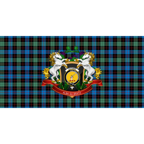 Image of Guthrie Ancient Crest Tartan Tablecloth Unicorn Thistle A30