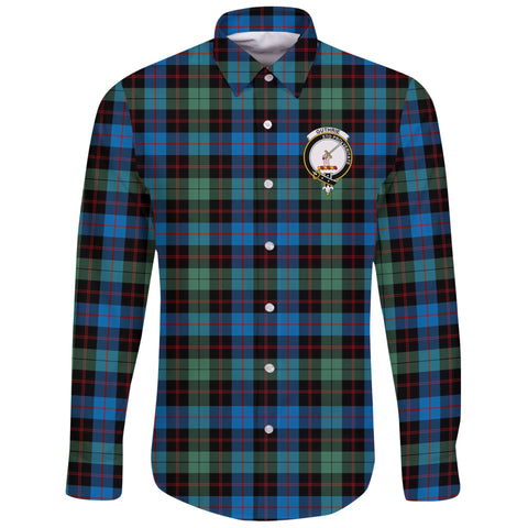 Image of Guthrie Ancient Tartan Clan Long Sleeve Button Shirt | Scottish Clan