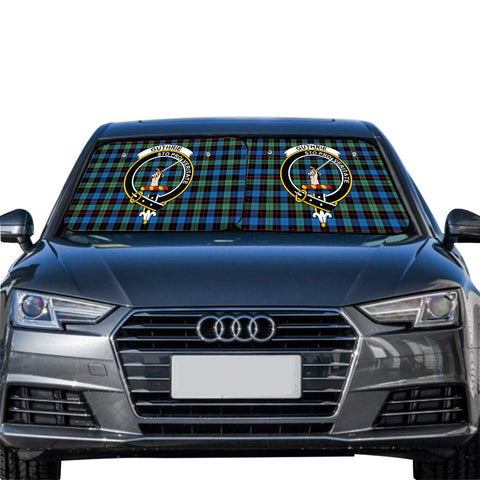 Image of Guthrie Ancient Clan Crest Tartan Scotland Car Sun Shade 2pcs