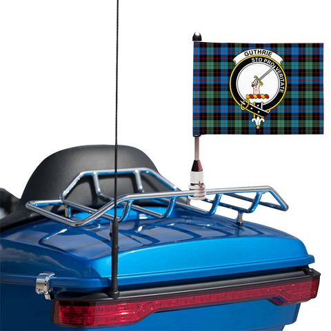 Guthrie Ancient Clan Crest Tartan Motorcycle Flag