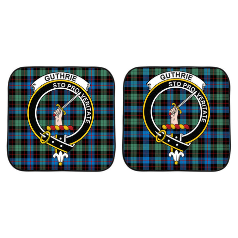 Guthrie Ancient Clan Crest Tartan Scotland Car Sun Shade 2pcs K7