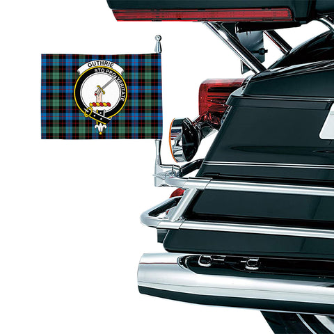 Image of Guthrie Ancient Clan Crest Tartan Motorcycle Flag
