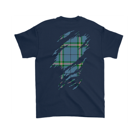 Clelland Modern Lives in me Tartan T Shirt K7