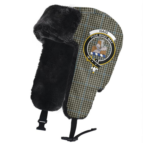 Haig Check Clan Crest Tartan Trapper Hat