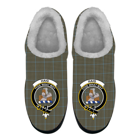 Haig Check Crest Tartan Fleece Slipper (Women's/Men's) A7