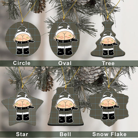 Haig Check Tartan Christmas Decor - Ross Ceramic Ornament - Funny Style A7