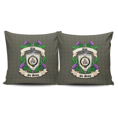 Haig Check Crest Tartan Pillow Cover Thistle (Set of two) A91 | Home Set