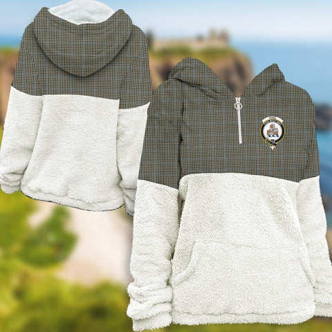Haig Check Tartan Clan Flannel Hoodie Women A91