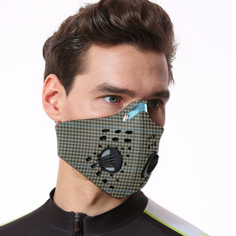 Haig Check Tartan Dust-proof Sports Masks ( Model 1) - TH88 (USA Shipping Line)