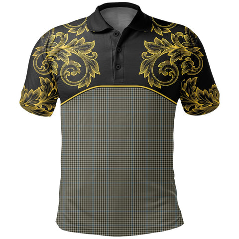 Haig Check Tartan Clan Crest Polo Shirt - Empire I - HJT4 - Scottish Clans Store - Tartan Clans Clothing - Scottish Tartan Shopping - Clans Crest - Shopping In scottishclans - Polo Shirt For You