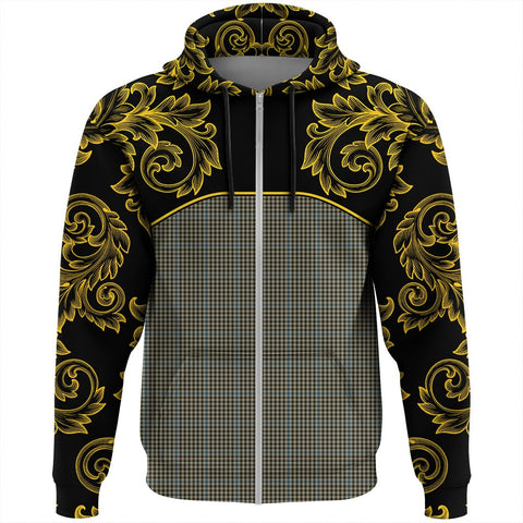 Haig Check Tartan Clan Crest Zip Hoodie - Empire I - HJT4 - Scottish Clans Store - Tartan Clans Clothing - Scottish Tartan Shopping - Clans Crest - Shopping In scottishclans - Hoodie - Pullover For You