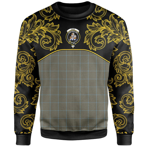 Haig Check Tartan Clan Crest Sweatshirt - Empire I - HJT4 - Scottish Clans Store - Tartan Clans Clothing - Scottish Tartan Shopping - Clans Crest - Shopping In scottishclans - Sweatshirt For You