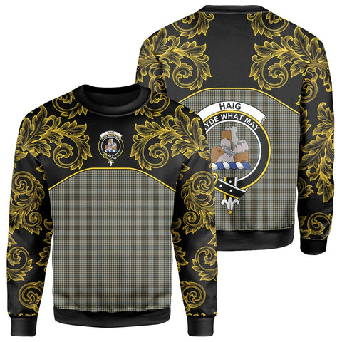 Haig Check Tartan Clan Crest Sweatshirt - Empire I - HJT4