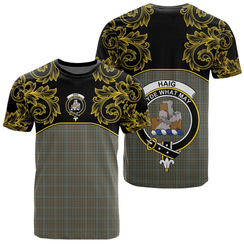 Haig Check Tartan Clan Crest T-Shirt - Empire I - HJT4