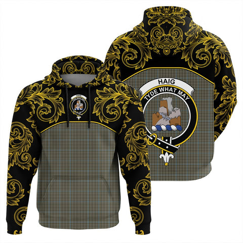 Image of Haig Check Tartan Clan Crest Hoodie - Empire I - HJT4