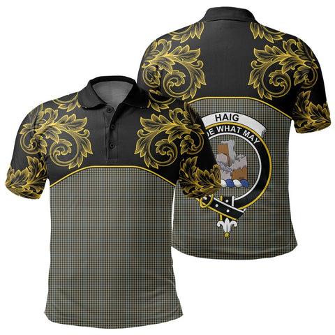 Haig Check Tartan Clan Crest Polo Shirt - Empire I - HJT4