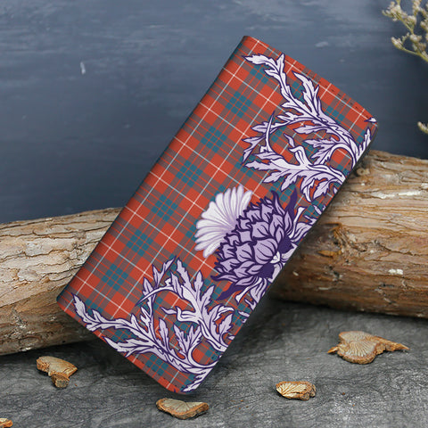 Hamilton Ancient Tartan Wallet Women's Leather Thistle A91