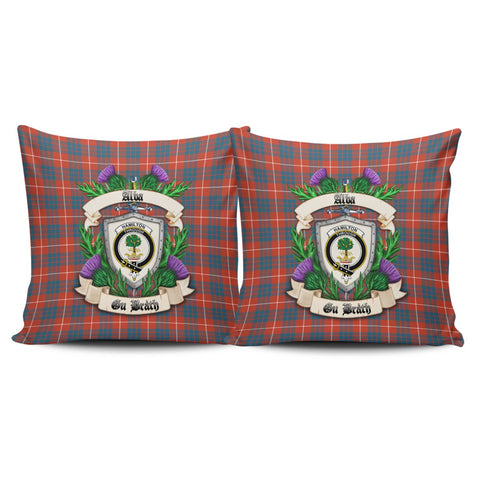 Hamilton Ancient Crest Tartan Pillow Cover Thistle (Set of two) A91 | Home Set