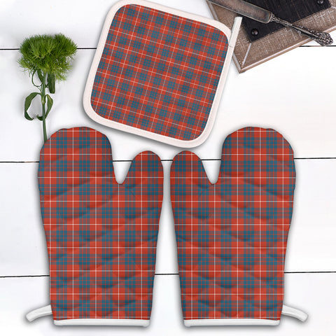 Image of Hamilton Ancient Clan Tartan Scotland Oven Mitt And Pot-Holder (Set Of Two)