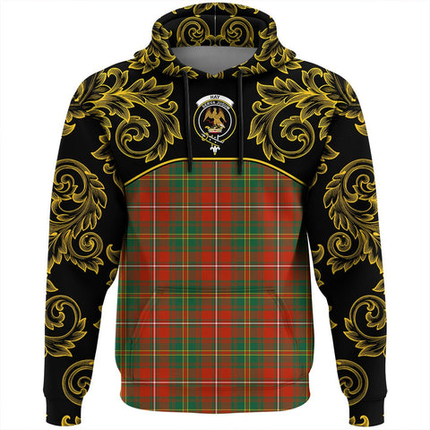Hay Ancient Tartan Clan Crest Hoodie - Empire I - HJT4 - Scottish Clans Store - Tartan Clans Clothing - Scottish Tartan Shopping - Clans Crest - Shopping In scottishclans - Hoodie - Pullover For You