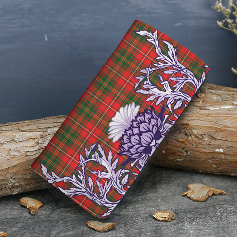 Hay Modern Tartan Wallet Women's Leather Thistle A91