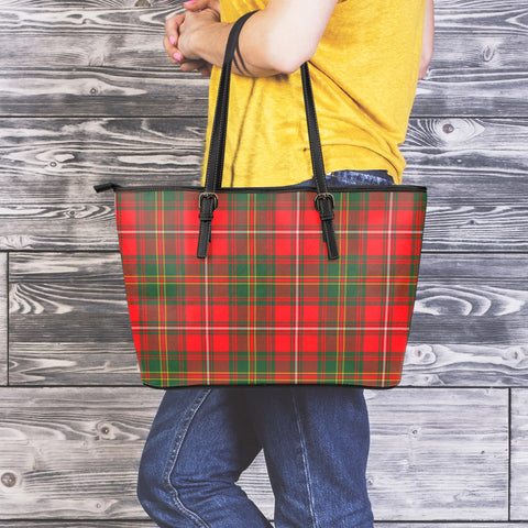 Hay Modern Tartan Leather Tote Bag (Large) | Over 500 Tartans | Special Custom Design