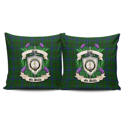 Henderson Modern Crest Tartan Pillow Cover Thistle (Set of two) A91 | Home Set