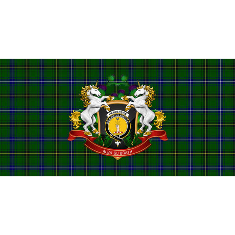 Image of Henderson Modern Crest Tartan Tablecloth Unicorn Thistle A30